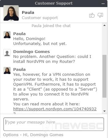 Review VPN NordVPN Soporte técnico
