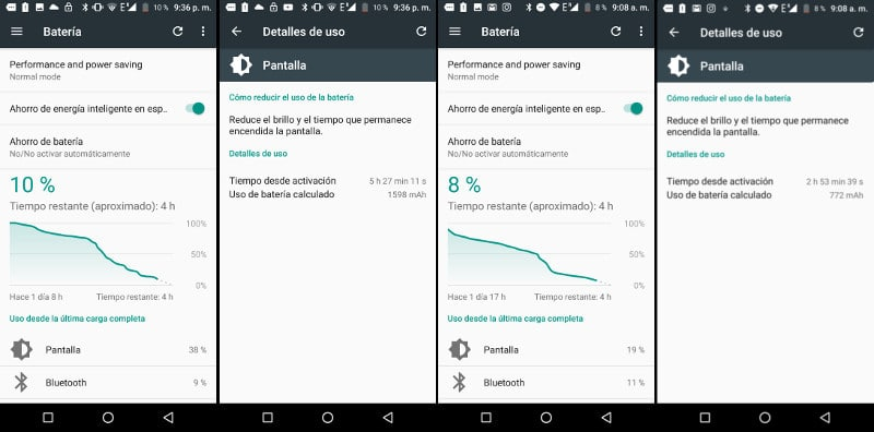 Review Vernee Mix 2 batería benchmark