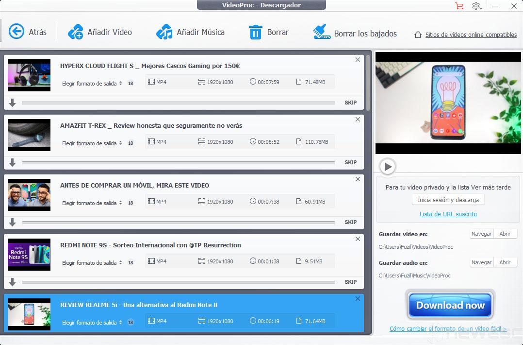Review VideoProc Descargador