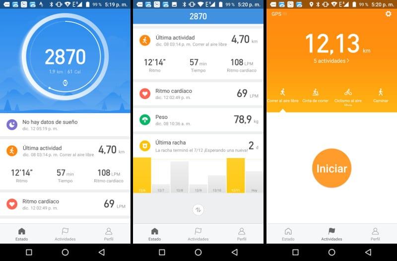 Review Xiaomi Huami AMAZFIT Bip pantalla principal app