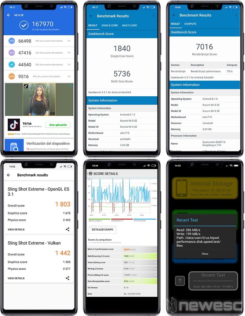 Review Xiaomi Mi 8 SE Benchmarks