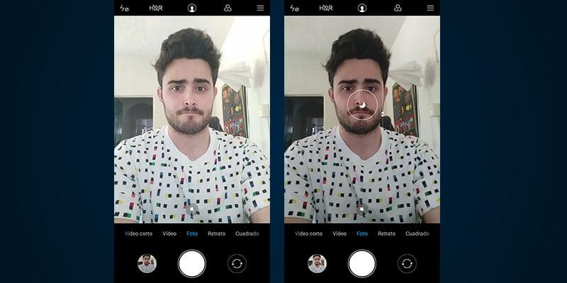 Review Xiaomi Redmi S2 cámara frontal sobreexposición