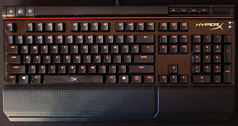 Review teclado HyperX Alloy Elite NewEsc vista superior