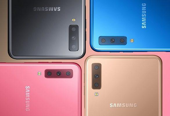 Samsung Galaxy A7 2018 colores