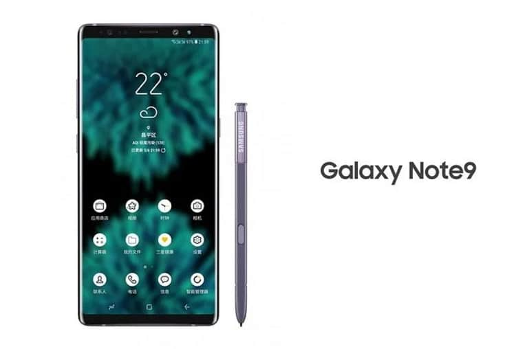Samsung Galaxy Note 9 render