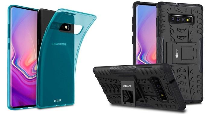 Samsung Galaxy S10 con estuches Olixar