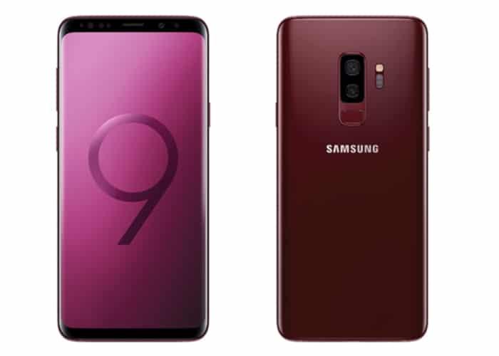 Samsung Galaxy S9 rojo