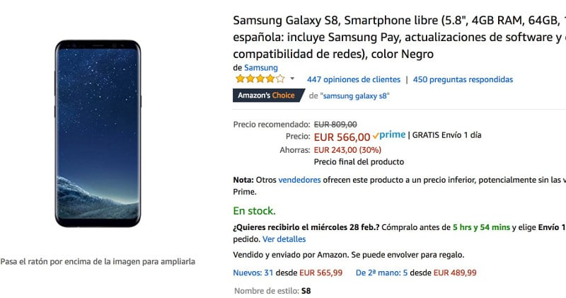 Samsung S8 mejor momento comprar
