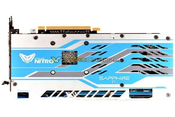 Sapphire Radeon RX 590 NITRO+ imagen de la parte posterior