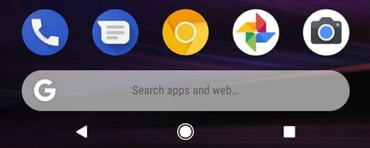 Search apps y web en Launcher del Pixel