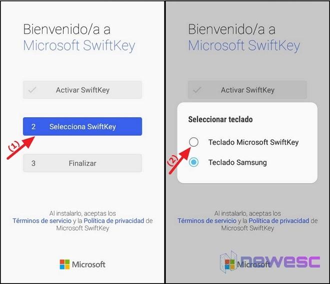 Seleccionar Teclado Swiftkey