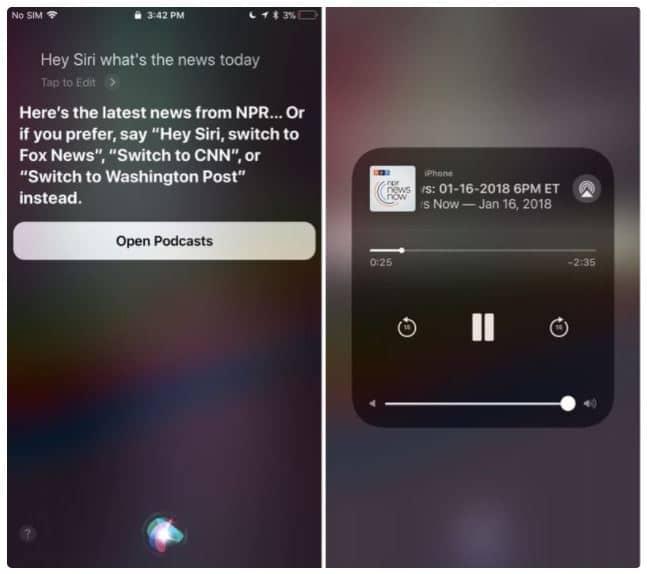 Siri y las noticias
