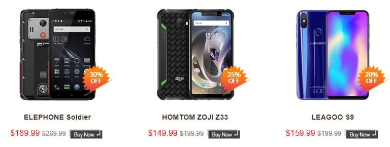 Smartphones tablets black friday Coolicool 2018