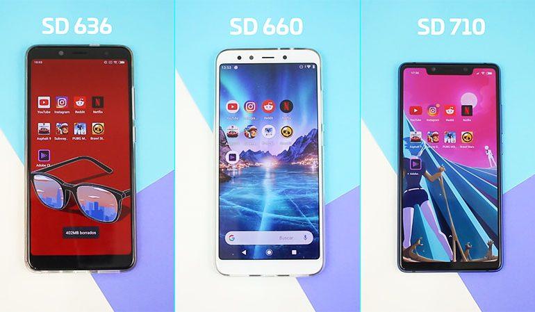 Snapdragon 636 vs SD 660 vs SD 710