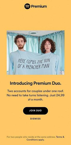 Spotify premium duo en el móvil
