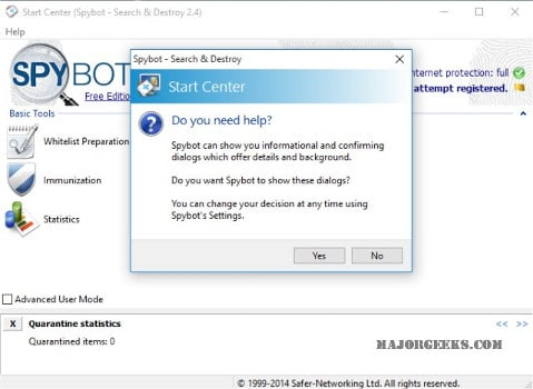 Spybot Search & Destroy antispyware