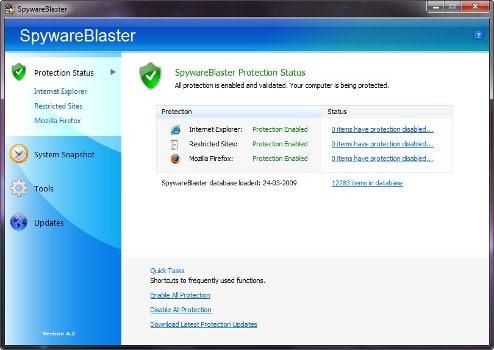 SpywareBlaster antispyware