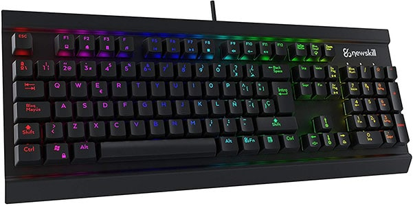 Teclado mecánico Newskill Thanatos Switch Red