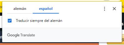 Traducción al Aleman Chrome
