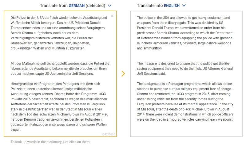 Traducción de DeepL Aleman-ingles