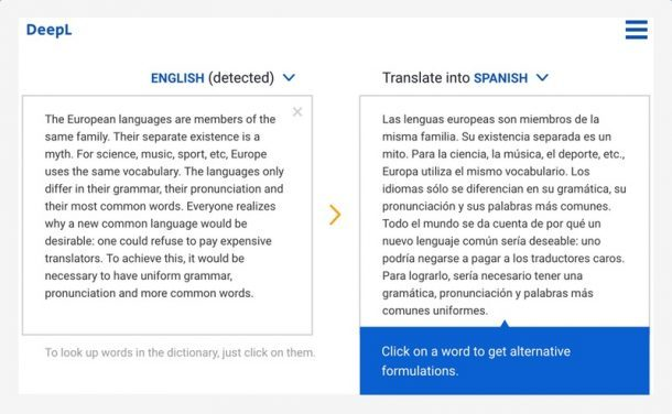 Traducción de DeepL Ingles-Español