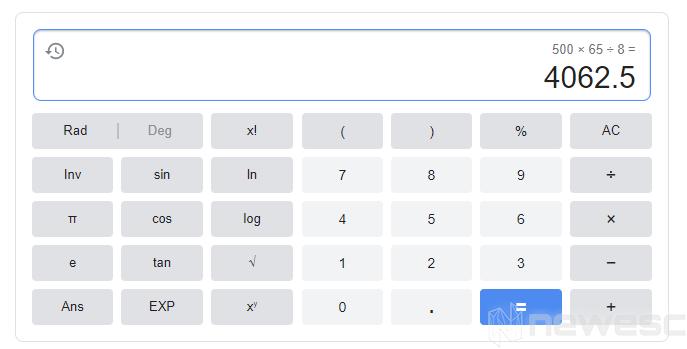 Trucos Google Calculadora