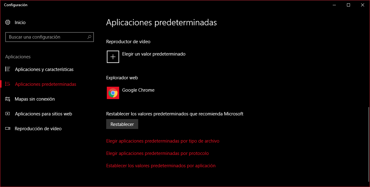 Trucos Windows 10 - Modificar las aplicaciones predeterminadas