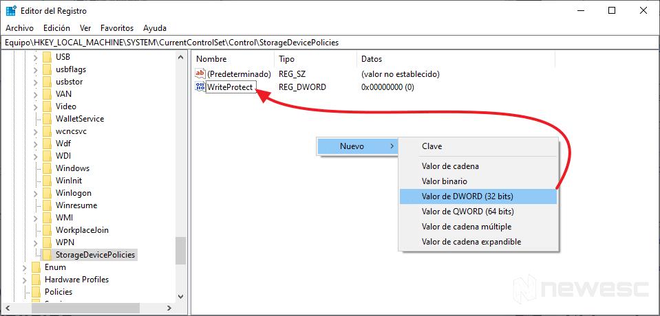 USB Protegido Contra Escritura - Creando Archivo