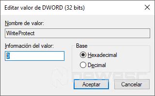 USB Protegido Contra Escritura - WriteProtect 0