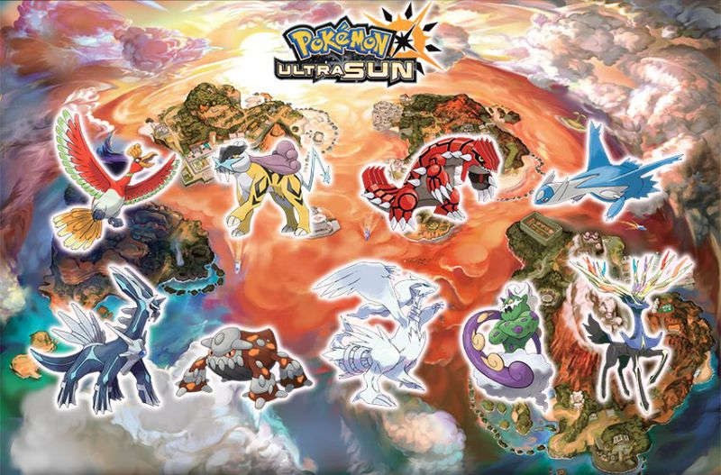 Ultra Sol Pokemon Legendarios