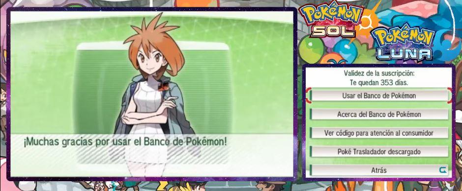 Usar el Banco de Pokémon