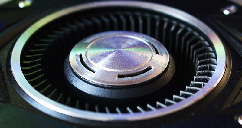 Ventilador primer plano Nvidia 1080 Ti Founders Edition NewEsc