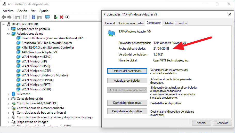 Verificar Drivers en Windows 10