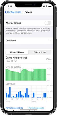 Verificar estado de la batería en iOS