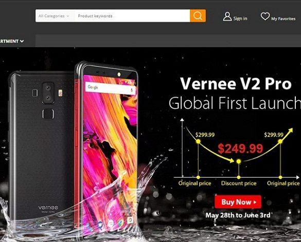 Vernee V2 Pro en GearBest