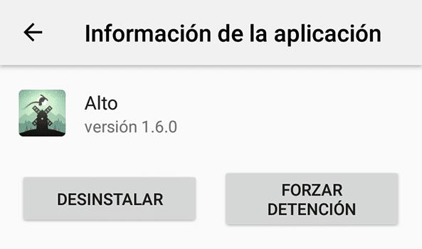 Virus Android - Desinstalar App