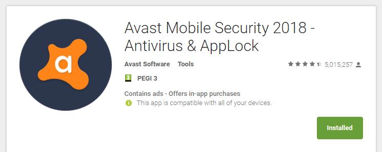 Virus Android - Instala una app de antivirus