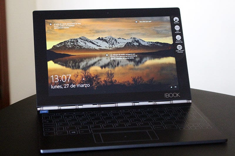 Vista total Lenovo Yoga Book NewEsc