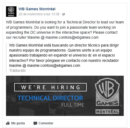 WB Games Montreal FB