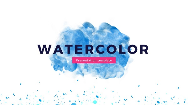 Watercolor Plantilla Power Point