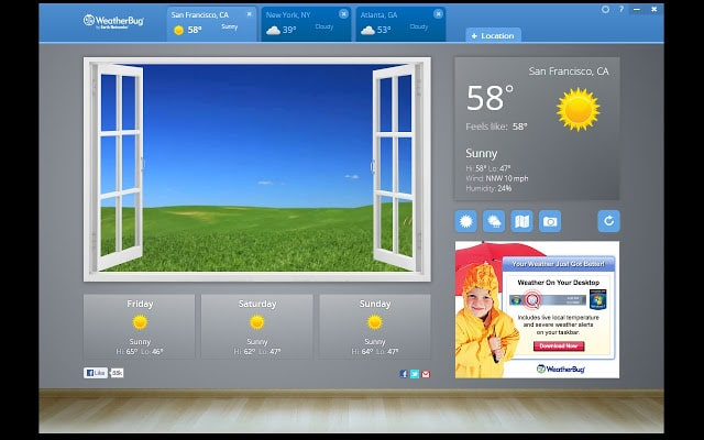 WeatherBug Plugin para Chrome