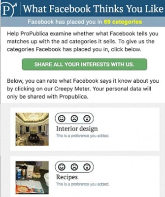 What Facebook Thinks You Like Plugin para Chrome