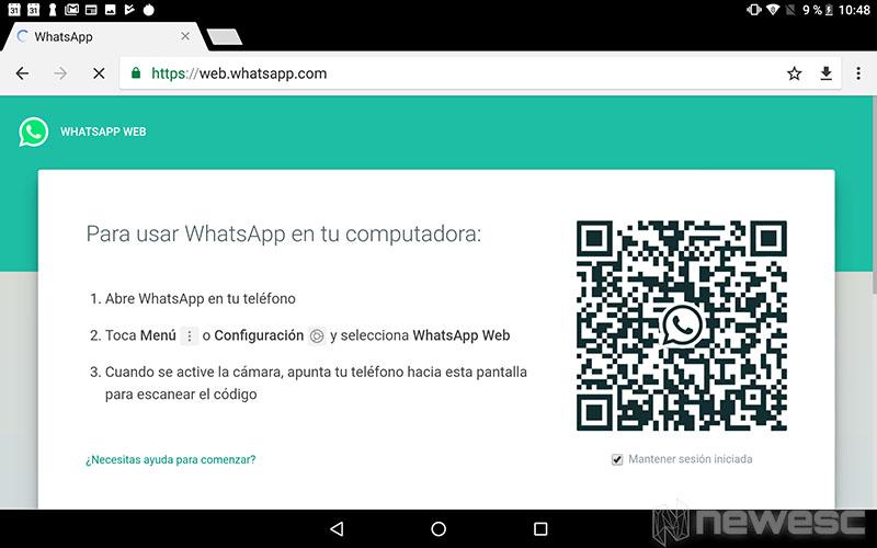 WhatsApp Web para Tablet
