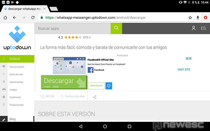 WhatsApp para Tablet - descargar APK