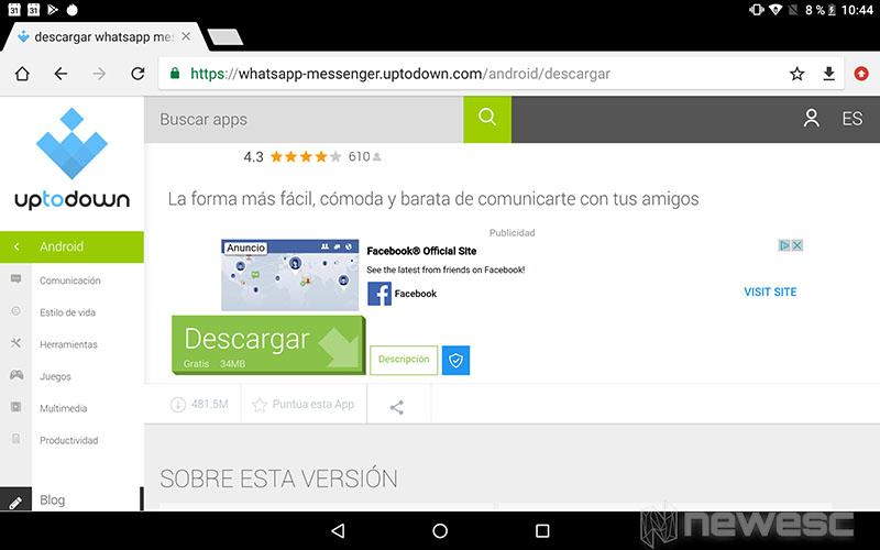WhatsApp para Tablet - descargar APK