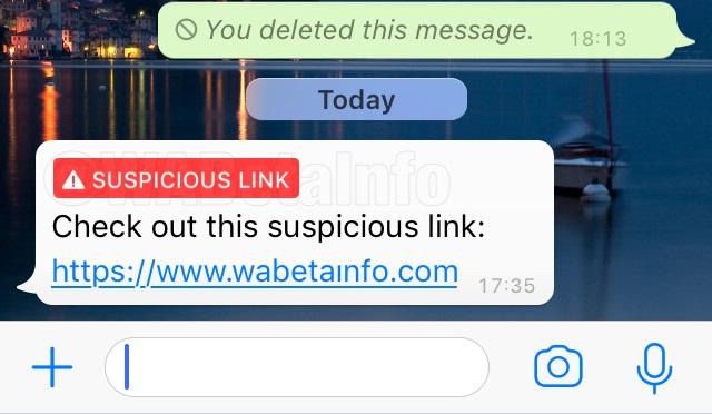Whatsapp enlaces maliciosos