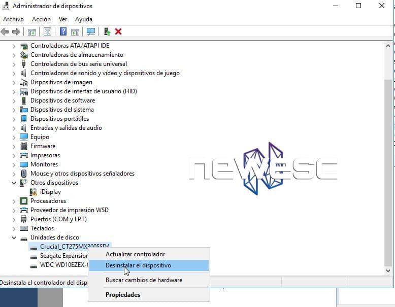 Windows 10 no reconoce el USB - Actualiza los drivers