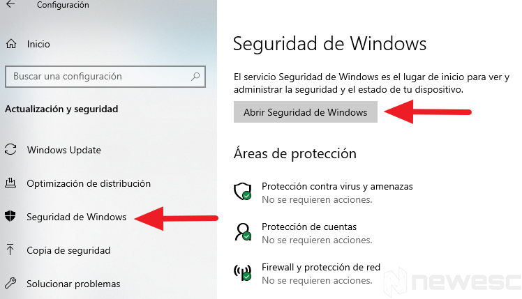 Windows defender para limpiar el ordenador1