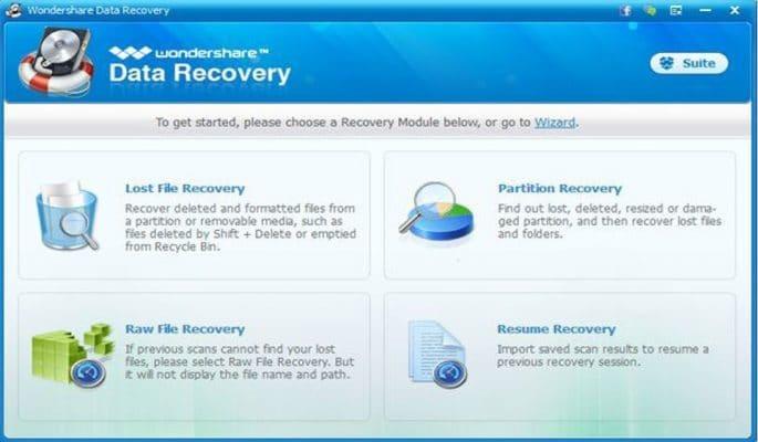 Recuperar datos y fotos de la Tarjeta SD - Wondershare data recovery