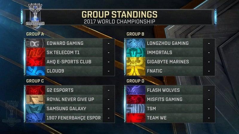Worlds 17 Fase de Grupos